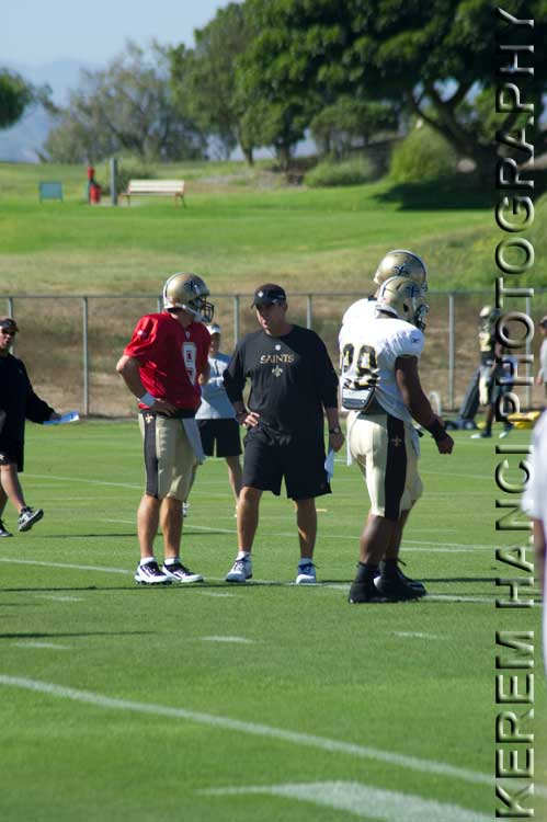 2009 Super Bowl winners Drew Brees and Sean Payton of New Orleans Saints in Oxnard, CA
