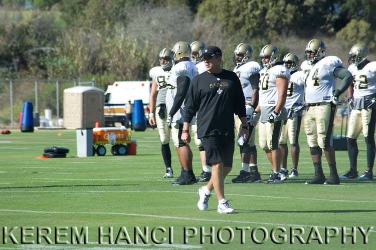 Sean Payton of New Orleans Saints in Oxnard, CA